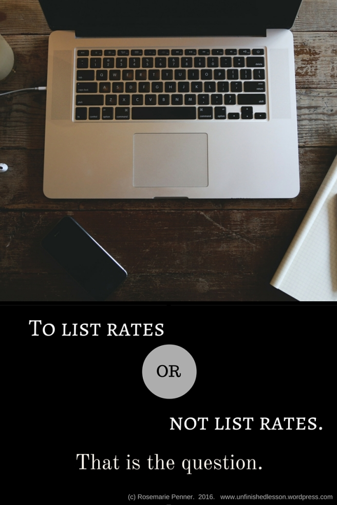 To List Rates, Or Not List Rates